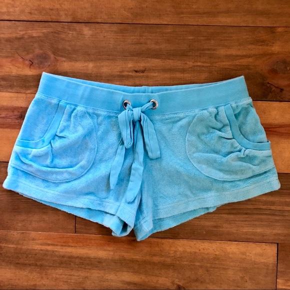 Pants - Beachy Terry Swim Coverup Shorts w/ Pockets Sz XS